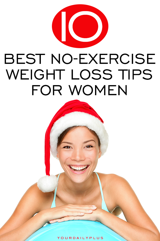 Easy NO-EXERCISE weight loss tips to burn fat this holiday season! Make these simple changes to your diet and lifestyle to slim down over Christmas and the New Year.