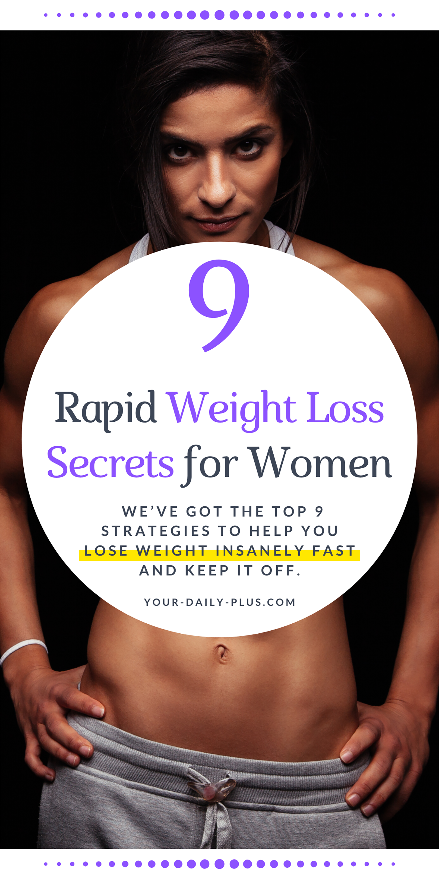 We've put together 9 secret strategies that we guarantee to promote rapid weight loss and improve your health. #healthy #fitness #weightloss