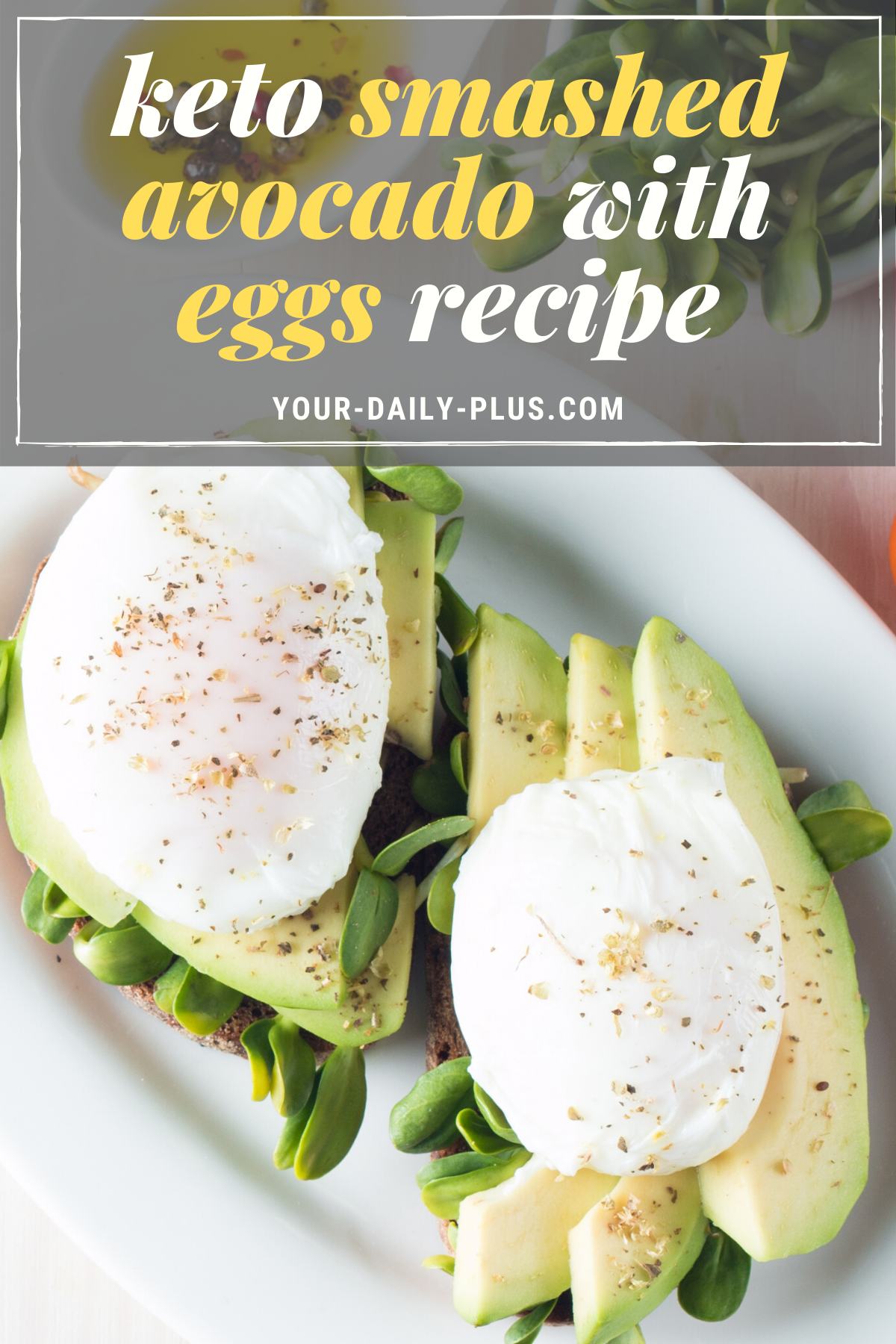 This is such a simple and delicious breakfast to make, and one you really can't get tired of eating. And although it is simple with just a few ingredients, you're going to find the combination of heart-healthy fats in avocado along with nutrient-dense eggs is going to keep you super-satiated throughout your morning. #ketobreakfast #lowcarbdiet #ketodiet